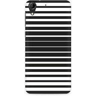 CopyCatz Black and White Stripes Premium Printed Case For HTC Desire 728