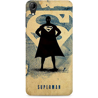 CopyCatz Superman Standing Premium Printed Case For HTC Desire 728