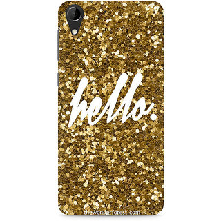 CopyCatz Golden Hello Premium Printed Case For HTC Desire 728