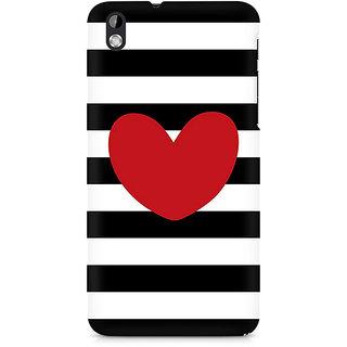 CopyCatz Red On Black and White Premium Printed Case For HTC Desire 816
