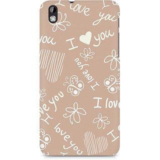 CopyCatz I Love You Premium Printed Case For HTC Desire 816
