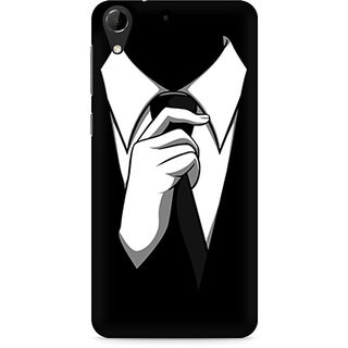 CopyCatz Black Tie Premium Printed Case For HTC Desire 728