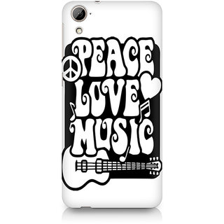 CopyCatz Peace Love Music Premium Printed Case For HTC Desire 820