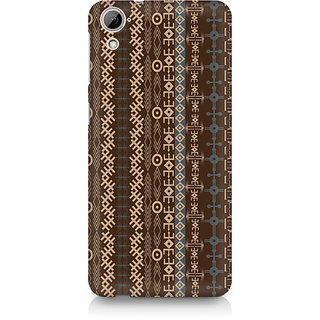 CopyCatz Brown Tribal Strips Premium Printed Case For HTC Desire 820