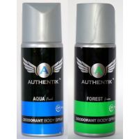 Authentik AQUA And FOREST Deodorant Combo Pack Of 2 Pcs-200 Ml Each