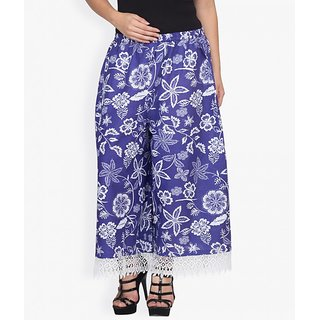 Famous by payal kapoor printed blue trouser