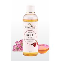 Organoveda Indian Rose And Geranium Massage Oil