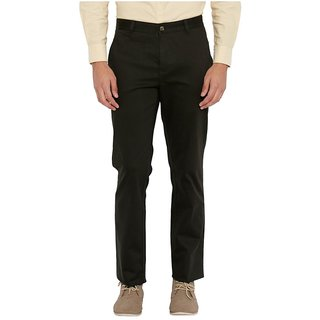 Brown Tapered Flat Trouser