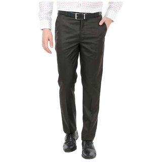 Black Slim Flat Trouser