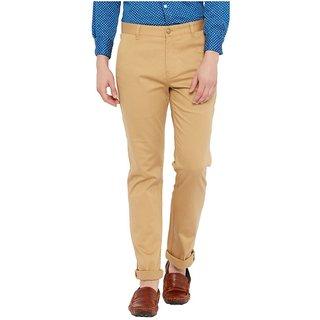 Khaki Tapered Flat Trouser