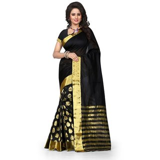 INDIAN BEAUTY. Art Silk Embroidered Saree With Blouse ( Colours Available)