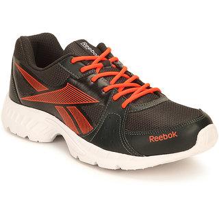 reebok mens gray laceup running shoes available at