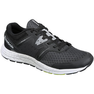 Reebok Men's Black Lace-up Running Shoes