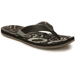 Reebok Men's Black Flip Flops