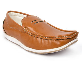 Action Shoes Dotcom Men's Tan Loafers