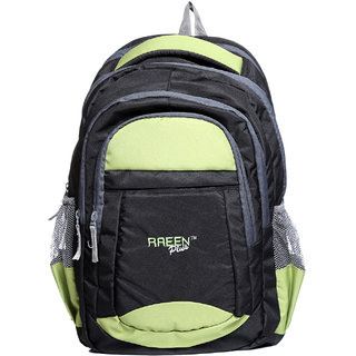 Raeen Plus Black Back Padding Backpack