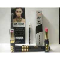 ADS Black Eyeliner, ADS Mascara, ADS Eyelash Curler , Two NYN Lipstick