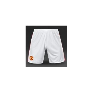 Man u white shorts