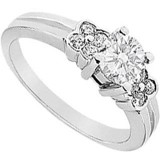 14K White Gold Semi Mount Engagement Ring 0.25 Carat Diamonds (Option - 2)