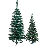 Artificial Christmas Plastic Tree 18 inch with stand set of two