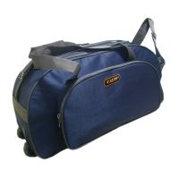 Caris Navy Blue  Grey Wheeler Bag CBGWB001