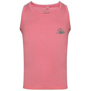 Punkster Cotton Lycra Pink Sleeveless Top For Girls 0112-6