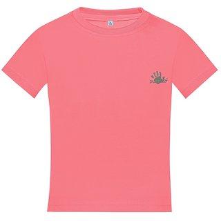 Punkster Cotton Lycra Pink Sleeveless Top For Girls 0212-5
