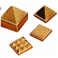 91 Pyramids In Total, Wish Pyramid, Metal Pyramid, Vastu Pyramid, Set Of Three Pyramid, Ashtdhatu Vastu Pyramid