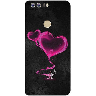 GripIt Pink Hearts From The Magic Lamp Printed Case for Huawei Honor 8