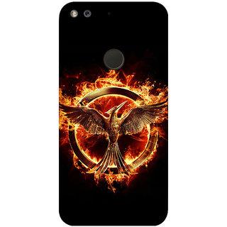 GripIt Hunger Games Printed Back Cover for Google Pixel