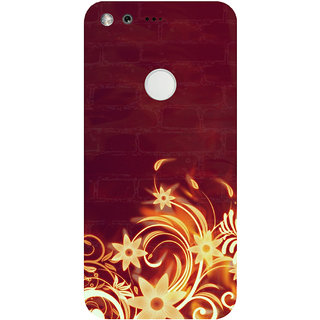 GripIt Fiery Flower Printed Case for Google Pixel XL