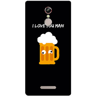 GripIt Beer I Love You Printed Case for Gionee S6s