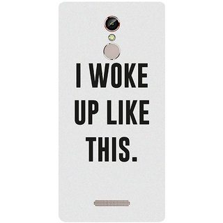 GripIt I WOKE UP LIKE THIS (White) Cover for Gionee S6s