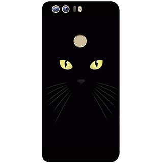 GripIt Black Cat Eyes Printed Case for Huawei Honor 8