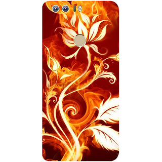 GripIt Fiery Plant Abstract Printed Case for Huawei Honor 8