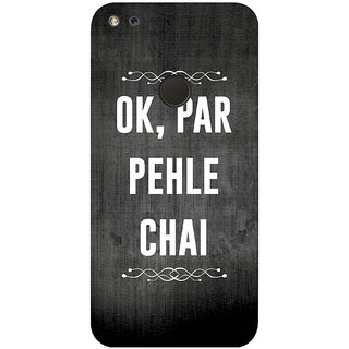 GripIt PEHLE CHAI Printed Back Cover for Google Pixel