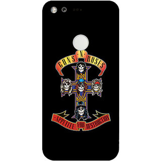 GripIt Guns & Roses Printed Back Cover for Google Pixel XL