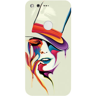 GripIt Painted Woman Printed Case for Google Pixel XL