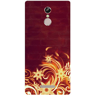 GripIt Fiery Flower Printed Case for Gionee S6s