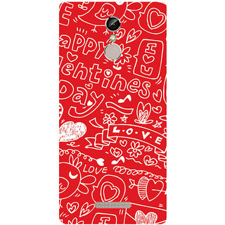 GripIt Valentine Background Printed Case for Gionee S6s