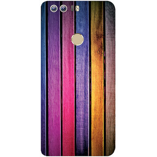 GripIt Painted Wood Strips Printed Case for Huawei Honor 8