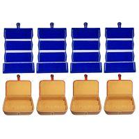 ABHINIDI Combo 4 pc blue earring folder and 4 pc ear ring box vanity case