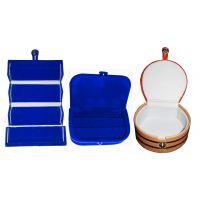ABHINIDI Combo 1 pc blue earring folder  1 blue ear ring box and 1 pc bangle box jewelry vanity case