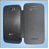 Micromax A110 Canvas 2 Superfone Durable Leather Flip Hard Back Cover Case