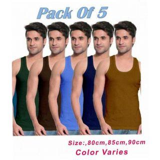 Men vests 5 multi color pack