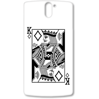 ONE PLUS ONE Designer Hard-Plastic Phone Cover from Print Opera - King Of Diamond