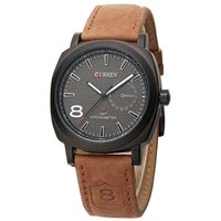 Moew Round Dial Black Leather Strap Men Automatic Watch
