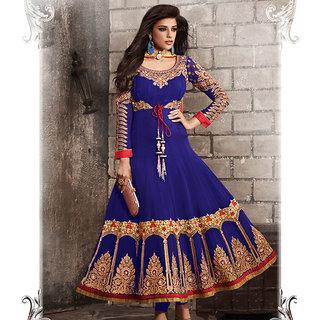 Blue Anarkali Style Suit Design 1