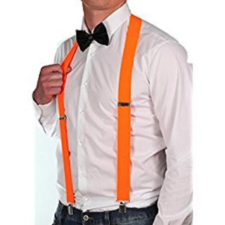 Neon Orange Suspender