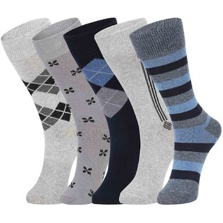 DUKK Multi Pack Of 5 Full Length Socks